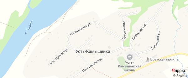 Новая улица на карте села Усть-Камышенки с номерами домов