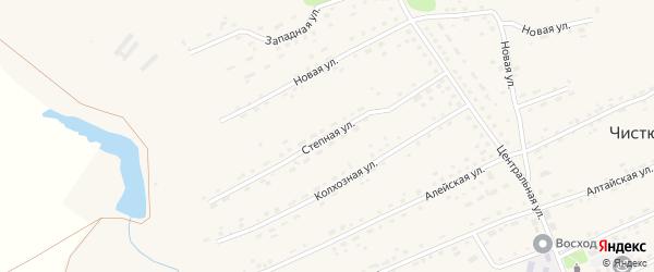 Степная улица на карте села Чистюньки с номерами домов