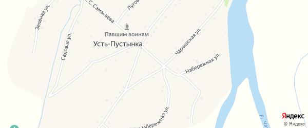 Садовая улица на карте села Усть-Пустынка с номерами домов