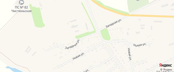 Западная улица на карте села Чистюньки с номерами домов