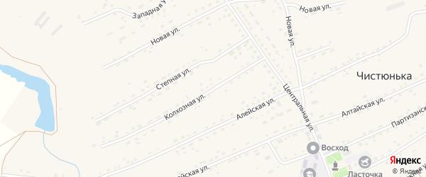 Колхозная улица на карте села Чистюньки с номерами домов