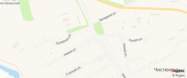 Новая улица на карте села Чистюньки с номерами домов