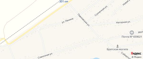 Фабричная улица на карте Черемного села с номерами домов