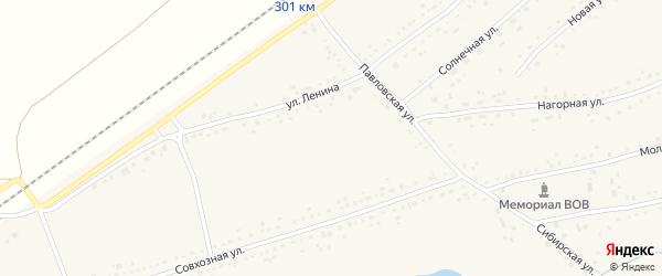 Пришкольная улица на карте Черемного села с номерами домов