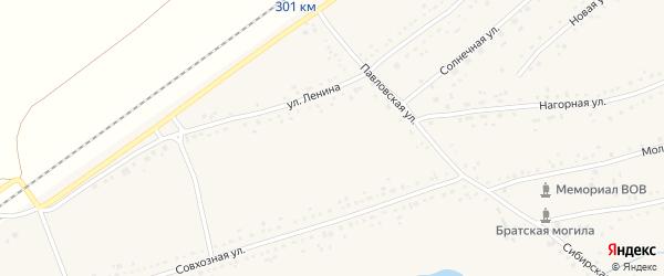 Улица Лесхоз на карте Черемного села с номерами домов