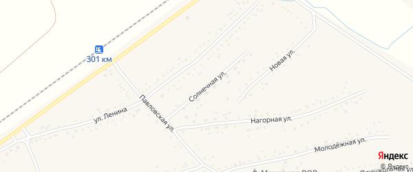 Солнечная улица на карте Черемного села с номерами домов