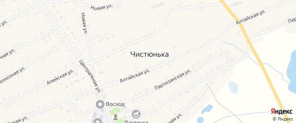 Левая Заречная улица на карте села Чистюньки с номерами домов