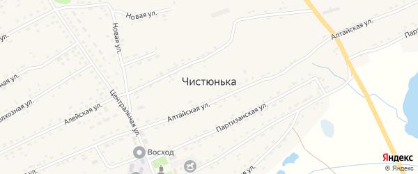 Набережная улица на карте села Чистюньки с номерами домов