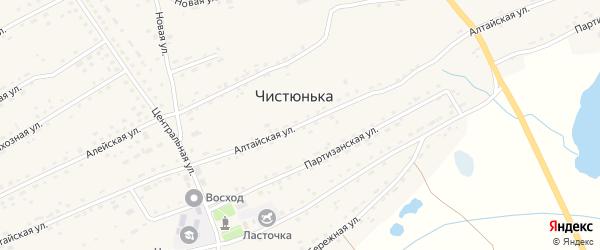 Алтайская улица на карте села Чистюньки с номерами домов