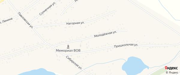 Центральная улица на карте Черемного села с номерами домов