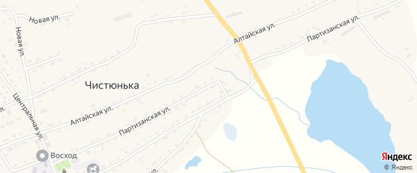 Партизанская улица на карте села Чистюньки с номерами домов