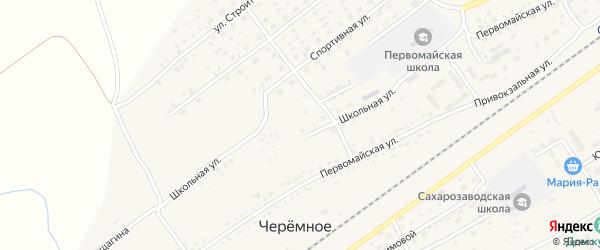 Школьная улица на карте Черемного села с номерами домов