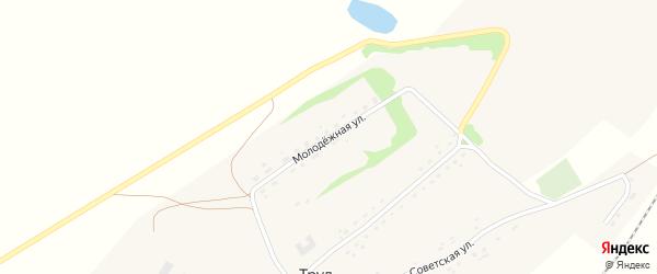 Молодежная улица на карте поселка Труда с номерами домов