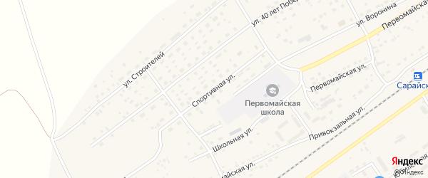 Спортивная улица на карте Черемного села с номерами домов