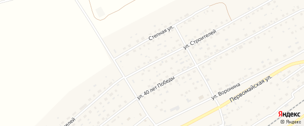 Улица Строителей на карте Черемного села с номерами домов