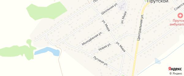 Молодежная улица на карте Прутского поселка с номерами домов
