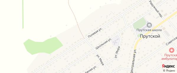 Полевая улица на карте станции Арбузовки с номерами домов
