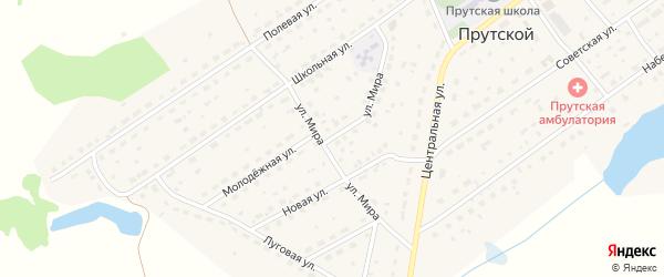 Улица Мира на карте Прутского поселка с номерами домов