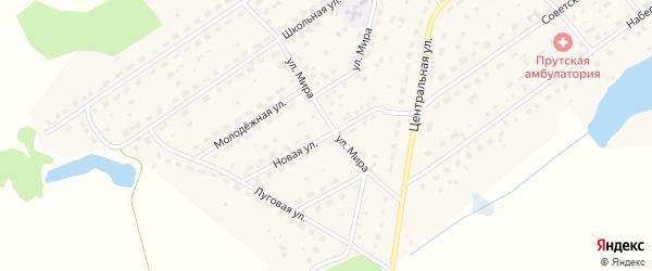 Новая улица на карте Прутского поселка с номерами домов