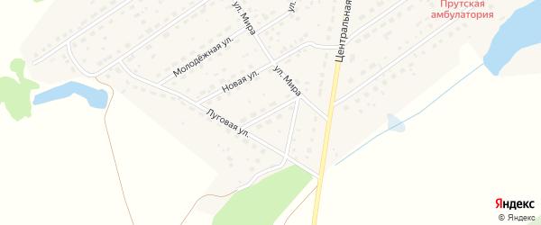 Улица Строителей на карте Прутского поселка с номерами домов