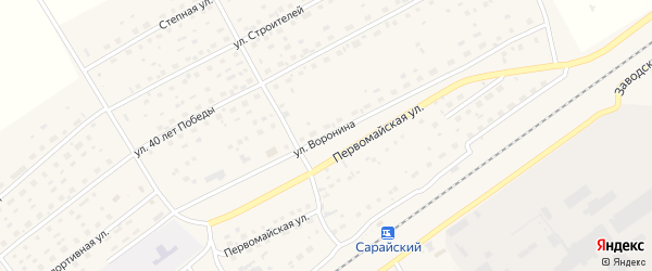 Улица Воронина на карте Черемного села с номерами домов