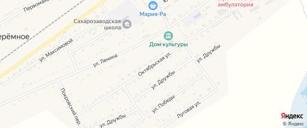 Октябрьская улица на карте Черемного села с номерами домов