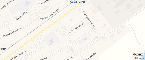 Юбилейная улица на карте Черемного села с номерами домов