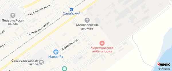 Станционный переулок на карте Черемного села с номерами домов