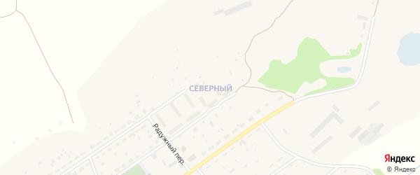 Северный микрорайон на карте Прутского поселка с номерами домов
