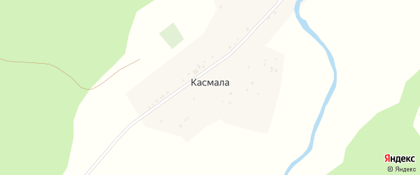 Песочная улица на карте села Касмалы с номерами домов