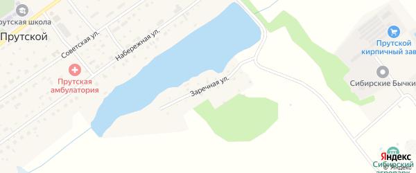 Заречная улица на карте Прутского поселка с номерами домов