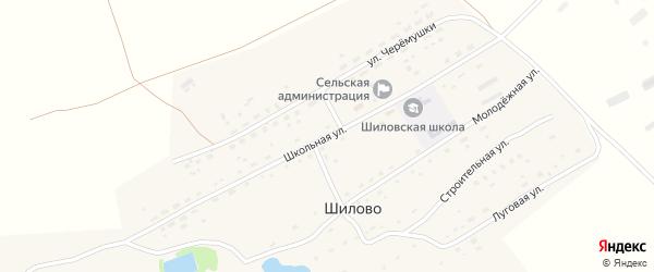 Школьная улица на карте села Шилово с номерами домов