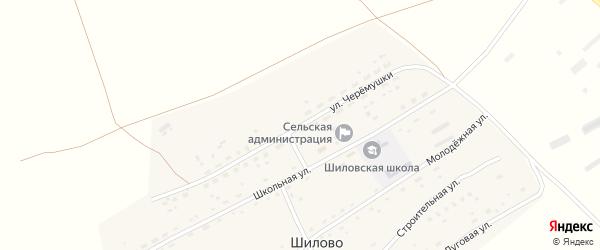 Улица Черемушки на карте села Шилово с номерами домов