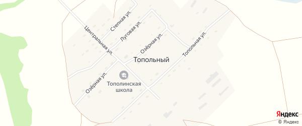 Степная улица на карте Топольного поселка с номерами домов
