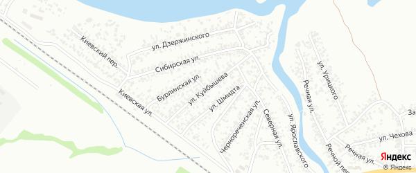Улица Куйбышева на карте Искитима с номерами домов