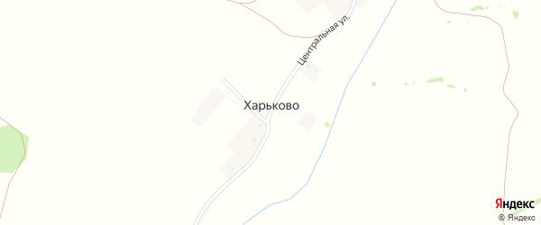 Центральная улица на карте села Харьково с номерами домов