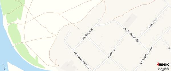 Улица Фрунзе на карте села Усть-Калманки с номерами домов