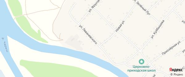 Улица Леваневского на карте села Усть-Калманки с номерами домов