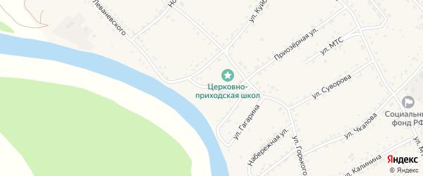 Переулок Куйбышева на карте села Усть-Калманки с номерами домов