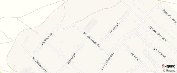 Новая улица на карте села Усть-Калманки с номерами домов