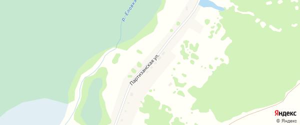 Партизанская улица на карте села Казанцево с номерами домов