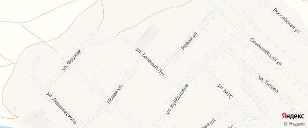 Улица Зеленый луг на карте села Усть-Калманки с номерами домов