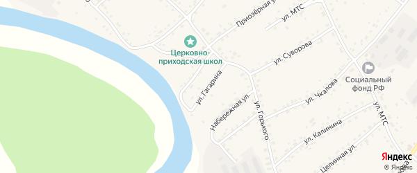 Улица Гагарина на карте села Усть-Калманки с номерами домов