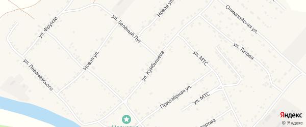 Улица Куйбышева на карте села Усть-Калманки с номерами домов