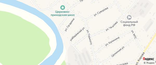 Набережная улица на карте села Усть-Калманки с номерами домов