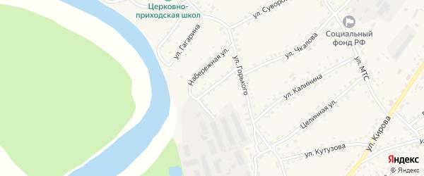 Колхозный переулок на карте села Усть-Калманки с номерами домов