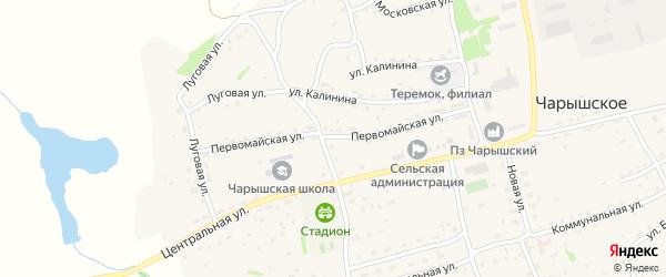 Первомайская улица на карте Чарышского села с номерами домов