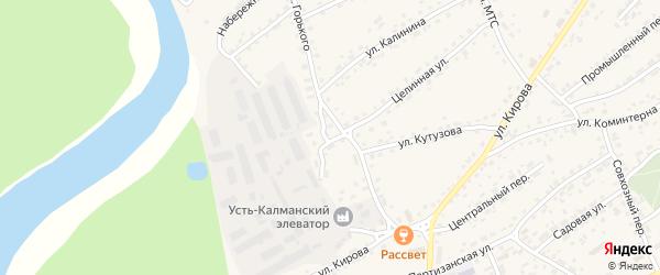 Первомайский переулок на карте села Усть-Калманки с номерами домов