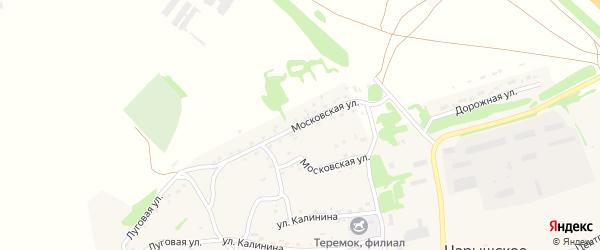 Московская улица на карте Чарышского села с номерами домов