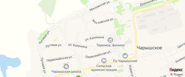 Улица Калинина на карте Чарышского села с номерами домов